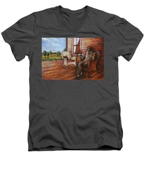Violin Man Men's V-Neck T-Shirt