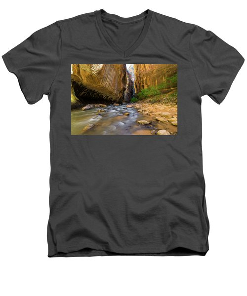 Virgin River - Zion National Park Men's V-Neck T-Shirt