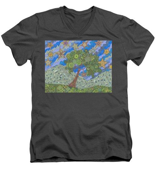 Virginia Quilts Men's V-Neck T-Shirt