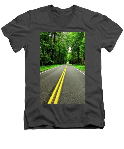 Virginia Road Men's V-Neck T-Shirt