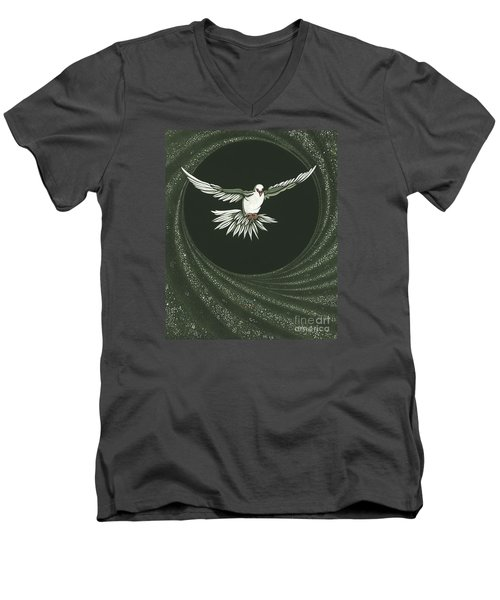 Viriditas-holy Spirit Detail Men's V-Neck T-Shirt by William Hart McNichols