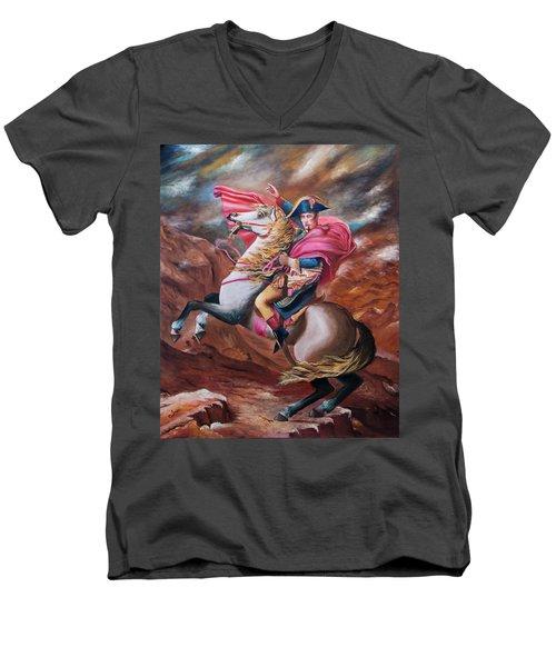 Vision Men's V-Neck T-Shirt by Itzhak Richter