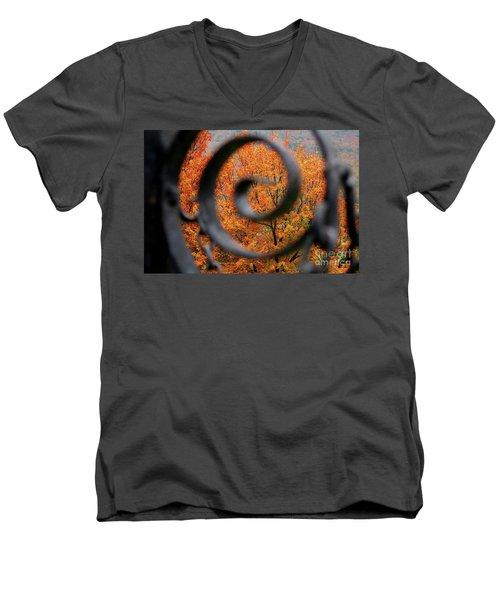 Vision Men's V-Neck T-Shirt by Sheila Ping