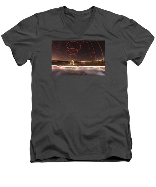 Visionary Men's V-Neck T-Shirt by Andrew Nourse