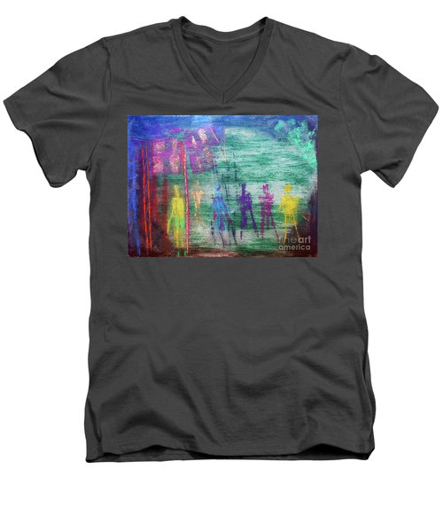 Visions Of Future Beings Men's V-Neck T-Shirt