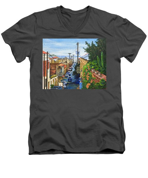 Visions Of Paradise Vii Men's V-Neck T-Shirt by Michael Frank