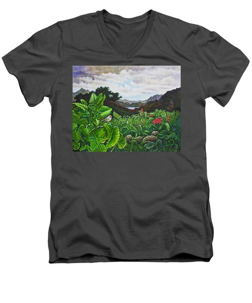 Visions Of Paradise Viii Men's V-Neck T-Shirt by Michael Frank