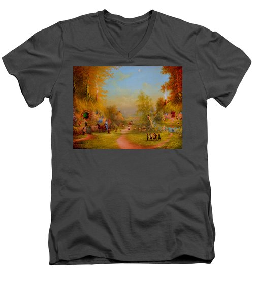 Visit From An Old Friend Men's V-Neck T-Shirt