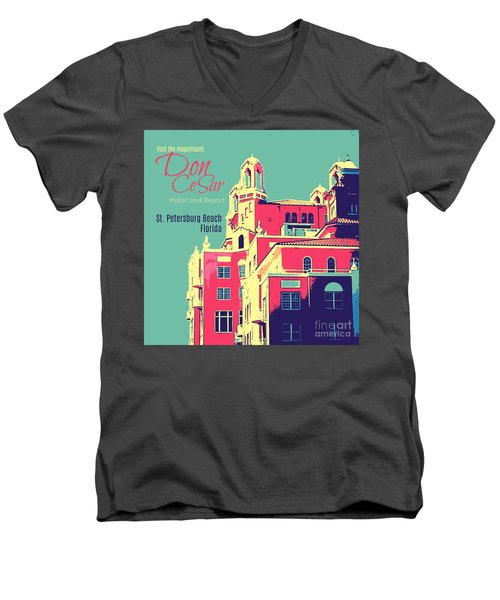 Visit The Don Cesar Men's V-Neck T-Shirt