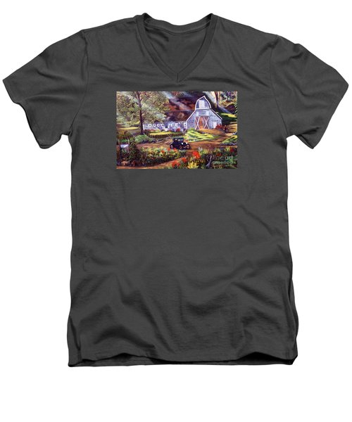 Visiting The Rocking R Men's V-Neck T-Shirt