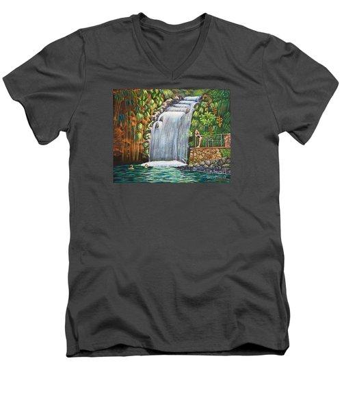 Visitors To The Falls Men's V-Neck T-Shirt