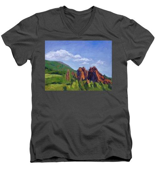 Vista Of The Gods Men's V-Neck T-Shirt