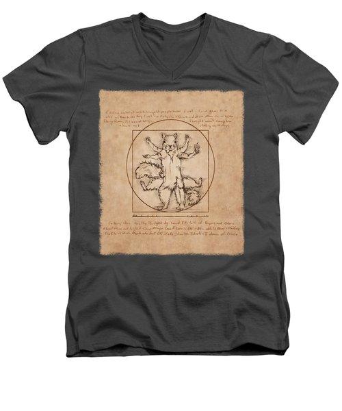Vitruvian Squirrel Men's V-Neck T-Shirt