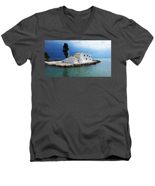 Vlachurna Monastry Men's V-Neck T-Shirt