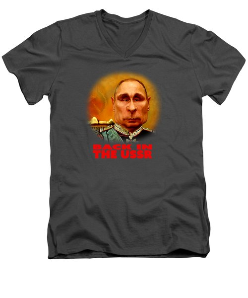 Vladimir Putin Men's V-Neck T-Shirt