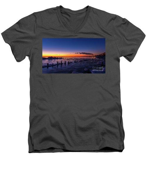 Voilet Morning Men's V-Neck T-Shirt