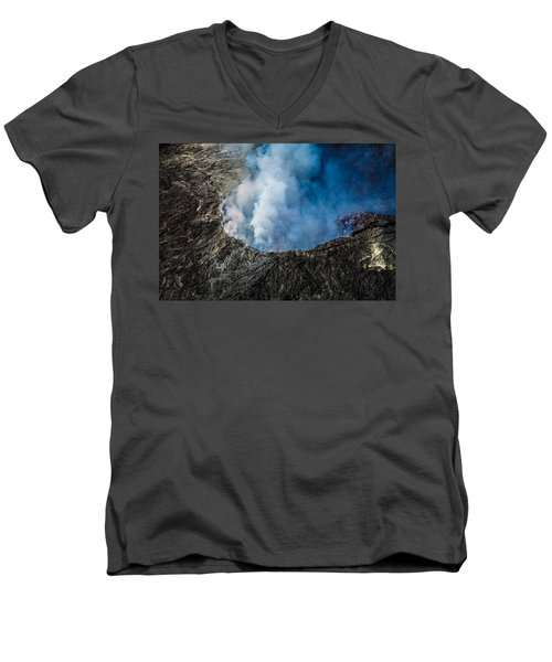 Another View Of The Kalauea Volcano Men's V-Neck T-Shirt