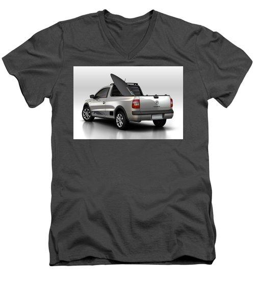 Volkswagen Saveiro Men's V-Neck T-Shirt