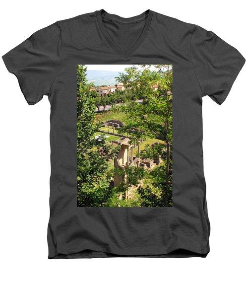 Volterra's Roman Ruins Men's V-Neck T-Shirt