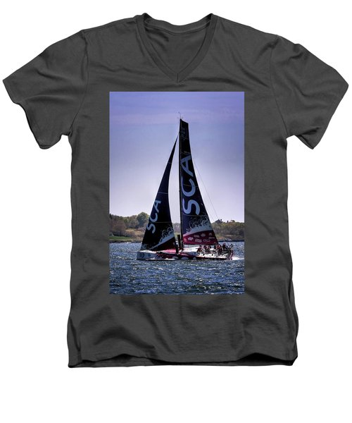 Volvo Ocean Race Team Sca Men's V-Neck T-Shirt