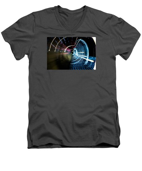 Men's V-Neck T-Shirt featuring the photograph Vortex by Micah Goff