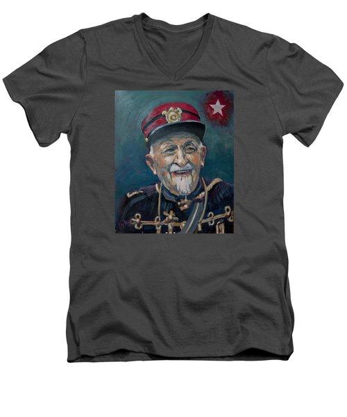 Voulez Vous Un Pelske Men's V-Neck T-Shirt by Nop Briex