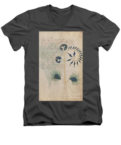 Voynich Flora 12 Men's V-Neck T-Shirt