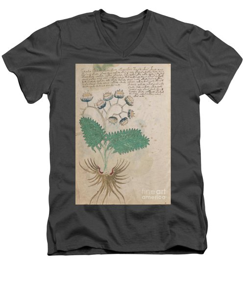 Voynich Flora 14 Men's V-Neck T-Shirt