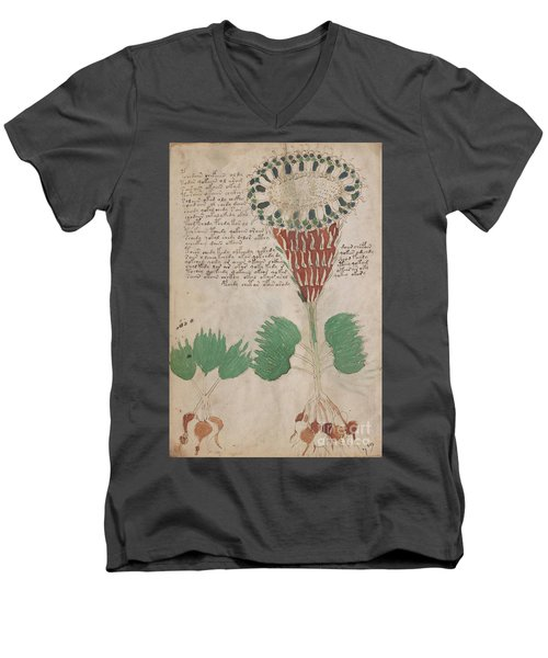 Voynich Flora 15 Men's V-Neck T-Shirt