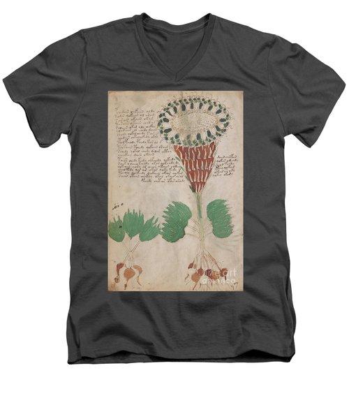Voynich Flora 15 Men's V-Neck T-Shirt