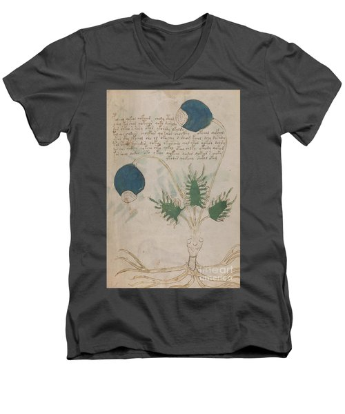 Voynich Flora 20 Men's V-Neck T-Shirt