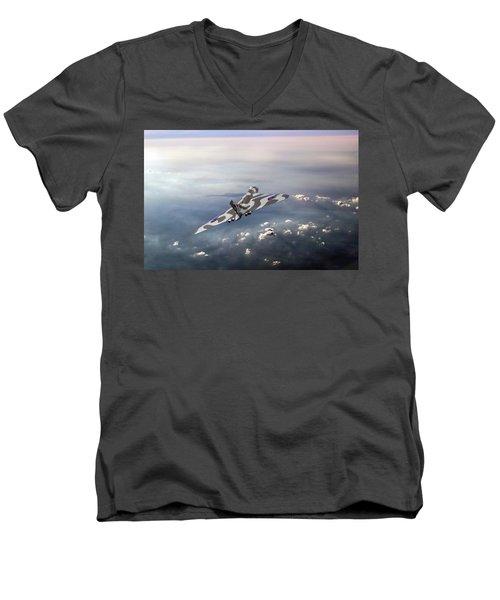 Vulcan Over The Channel Men's V-Neck T-Shirt