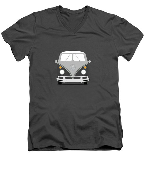 Vw Bus Grey Men's V-Neck T-Shirt by Mark Rogan