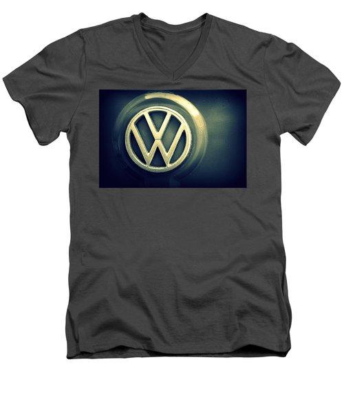 Vw Thing Emblem Men's V-Neck T-Shirt by Joseph Skompski
