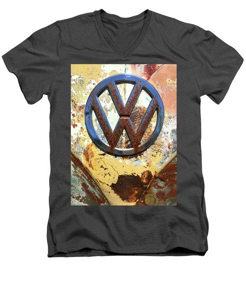 Vw Volkswagen Emblem With Rust Men's V-Neck T-Shirt