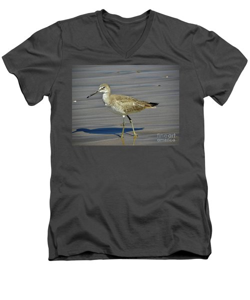 Wading Day Men's V-Neck T-Shirt by Sheila Ping