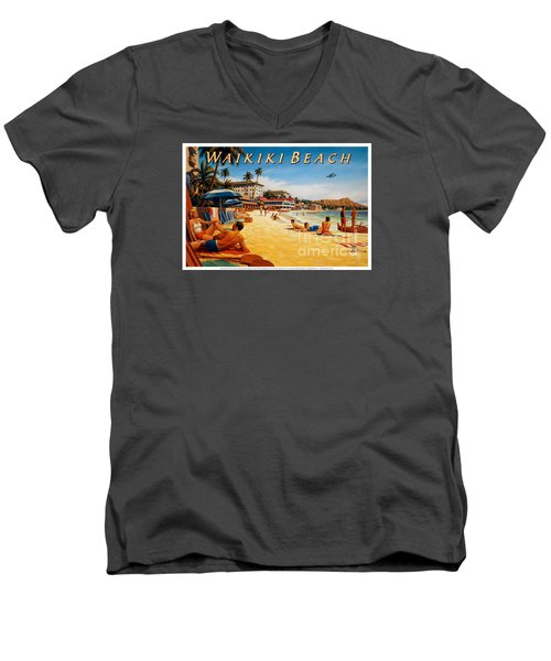 Waikiki Beach Men's V-Neck T-Shirt