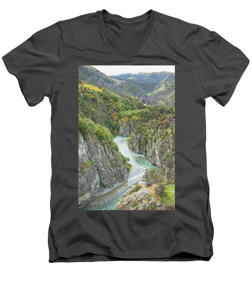 Waimakariri Gorge Men's V-Neck T-Shirt