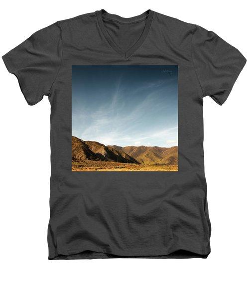 Men's V-Neck T-Shirt featuring the photograph Wainui Hills Squared by Joseph Westrupp