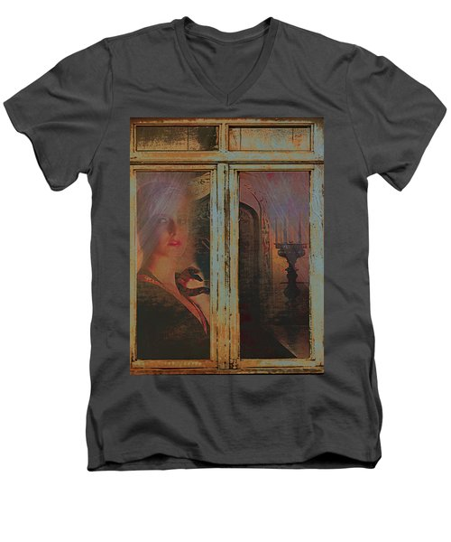 Men's V-Neck T-Shirt featuring the photograph Waiting And Watching by Jeff Burgess