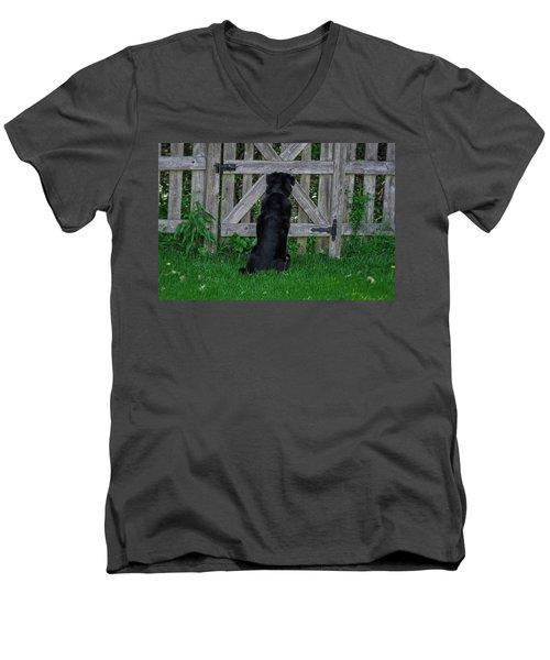 Waiting At The Gate Men's V-Neck T-Shirt