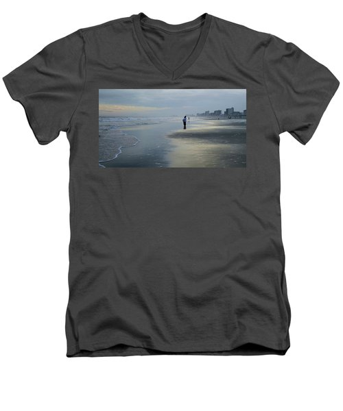 Waiting Men's V-Neck T-Shirt by Cathy Harper