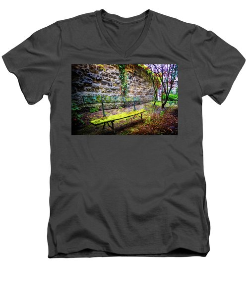 Men's V-Neck T-Shirt featuring the photograph Waiting by Debra and Dave Vanderlaan