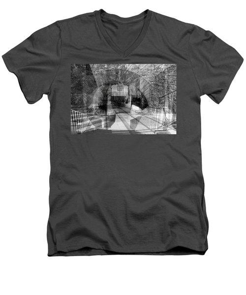 Waiting For A Friend Men's V-Neck T-Shirt