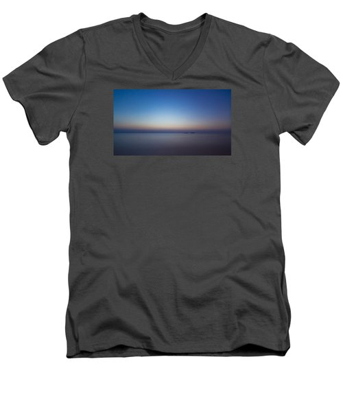 Waiting For A New Day Men's V-Neck T-Shirt by Andreas Levi