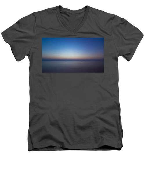 Waiting For A New Day Men's V-Neck T-Shirt