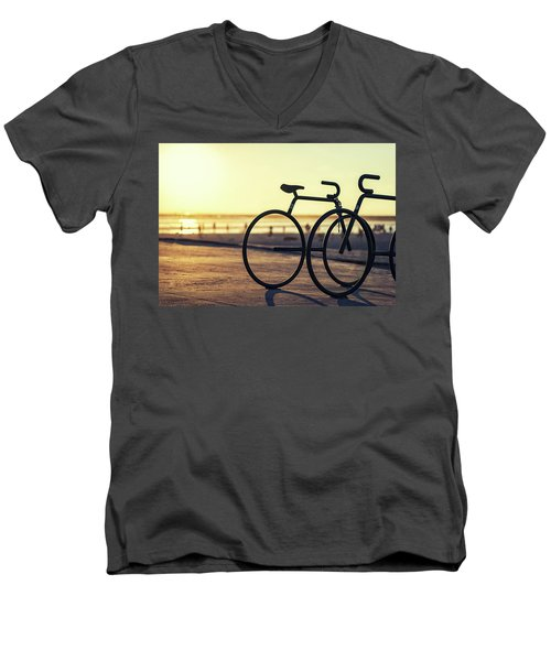 Waiting For A Rider Men's V-Neck T-Shirt by Joseph S Giacalone