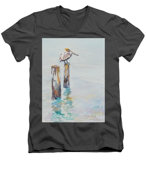 Waiting For Lunch Men's V-Neck T-Shirt by Mary Haley-Rocks