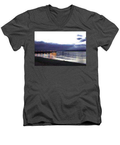 Waiting For The Kingston Ferry Men's V-Neck T-Shirt