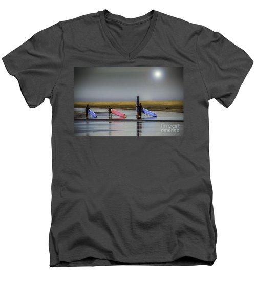 Waiting For The Surf Men's V-Neck T-Shirt